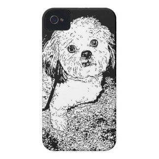 Lhaso Apso in Pen and Ink Case-Mate iPhone 4 Case