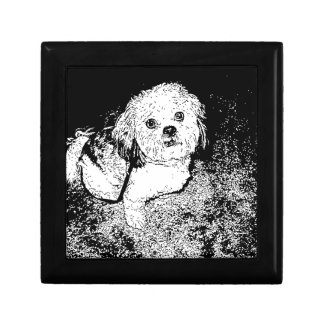 Lhaso Apso in Pen and Ink Keepsake Box