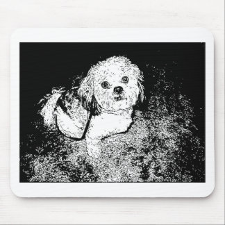 Lhaso Apso in Pen and Ink Mouse Pad