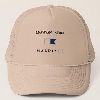 Lhaviyani Atoll Maldives Alpha Dive Flag Trucker Hat