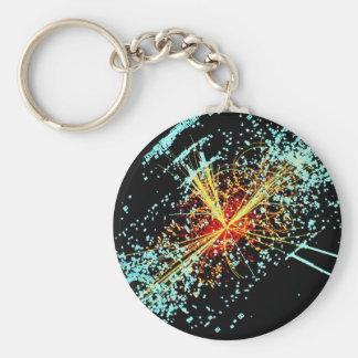 LHC Collision Basic Round Button Keychain