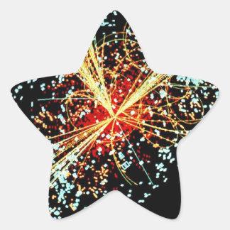 LHC Collision Star Sticker