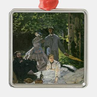 l'Herbe del sur del Dejeuner de Claude Monet el |, Adorno Navideño Cuadrado De Metal