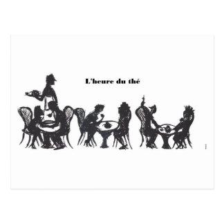 L'heure du thé postcard