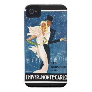 L'Hiver a Monte-Carlo Vintage Travel Advertisement iPhone 4 Case-Mate Cases