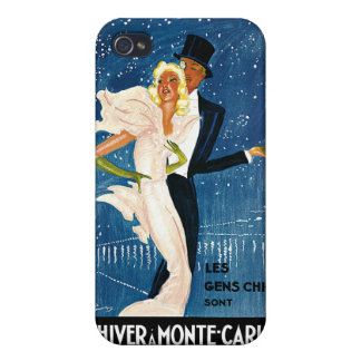 L'Hiver a Monte-Carlo Vintage Travel Advertisement iPhone 4 Cover