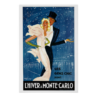 L'Hiver un anuncio del viaje del vintage de Monte  Impresiones