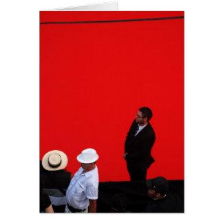 L'Homme Au Chapeau Blanc Greeting Card