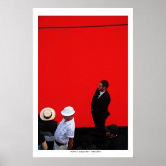 L'Homme au Chapeau Blanc Poster