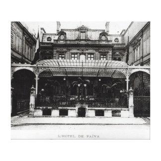 L'Hotel de Paiva en el Champs-Elysees Lienzo Envuelto Para Galerías