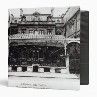 L'Hotel de Paiva on the Champs-Elysees 3 Ring Binder