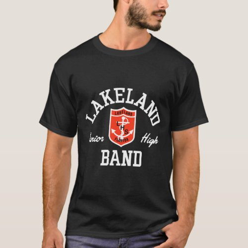 LHS Band Vintage Logo for dark T_shirt