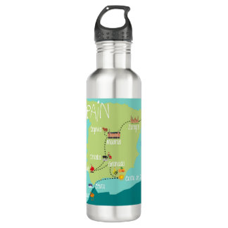 LHS to Spain 2 Water Bottle