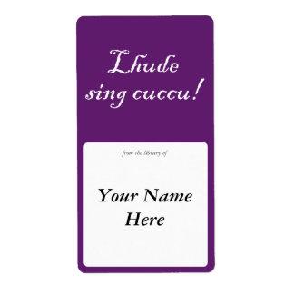 Lhude sing cuccu! label