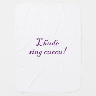 Lhude sing cuccu! receiving blanket
