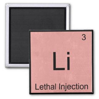 Li - camiseta divertida del elemento de la química iman para frigorífico