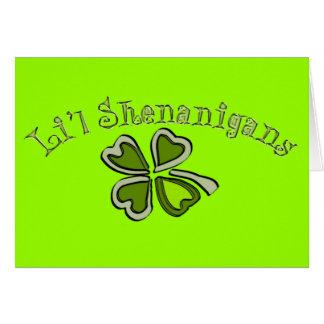 Li'l Shenanigans A Weird Party Shamrock Cartoonifi Greeting Card