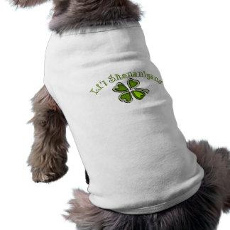Li'l Shenanigans A Weird Party Shamrock Cartoonifi Dog T Shirt