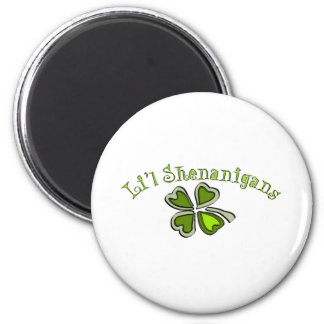 Li'l Shenanigans A Weird Party Shamrock Cartoonifi 2 Inch Round Magnet
