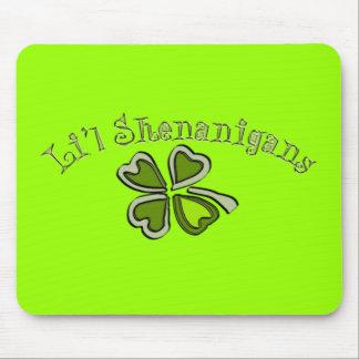 Li'l Shenanigans A Weird Party Shamrock Cartoonifi Mouse Pad