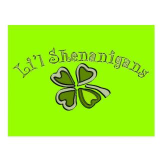 Li'l Shenanigans A Weird Party Shamrock Cartoonifi Postcard