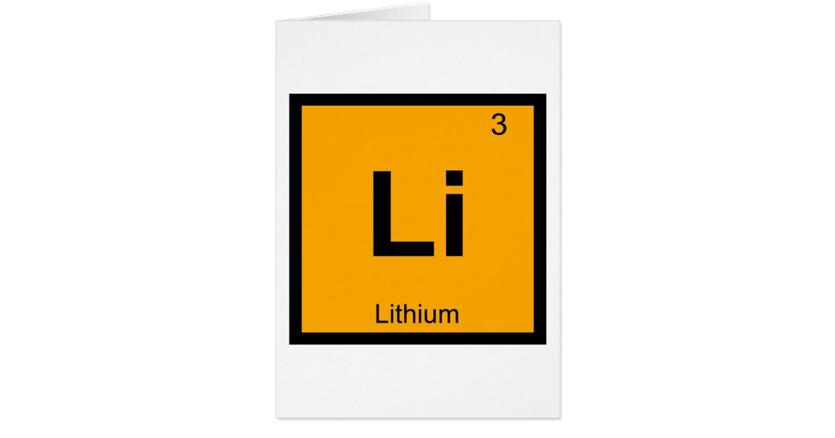 Li lithium chemistry periodic table symbol card zazzle urtaz Image collections
