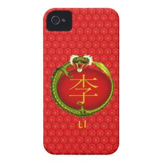 Li Monogram Dragon iPhone 4 Case-Mate Case
