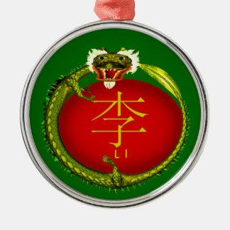 Li Monogram Dragon Metal Ornament