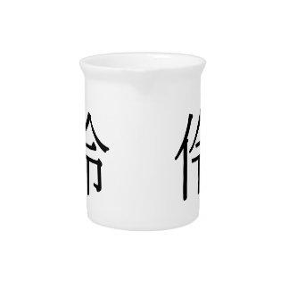líng - 伶 (clever) beverage pitcher