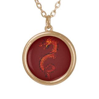 Li-wei the Magical Dragon Fantasy Art Necklace