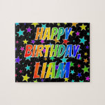 "[ Thumbnail: ""Liam"" First Name, Fun ""Happy Birthday"" Jigsaw Puzzle ]"