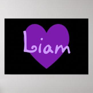 Liam in Purple print