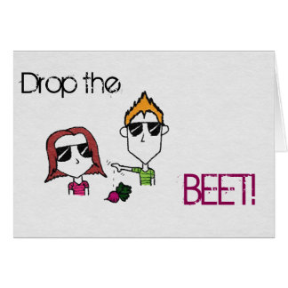 """Liam N' Livie """"Drop the Beet"""" Party Invitations"""