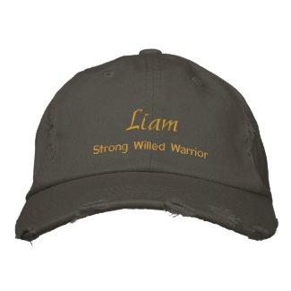 Liam Name Cap / Hat embroideredhat