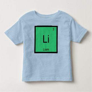 Liam  Name Chemistry Element Periodic Table Toddler T-shirt