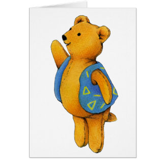 """Liam"" Teddy Bear Card"