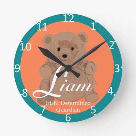 Liam Two-Toned Round Clock