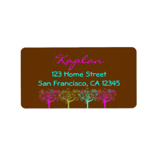 Liana Claire Chocolate Pink Envelope Seal Address Label