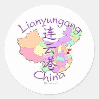 Lianyungang China Pegatina Redonda