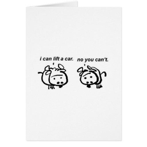 Liar Goats Greeting Card