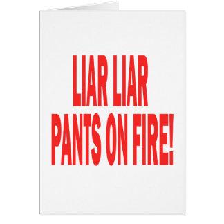Liar Liar Card