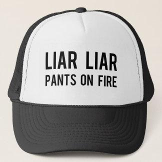 Liar Liar Pants on Fire Trucker Hat