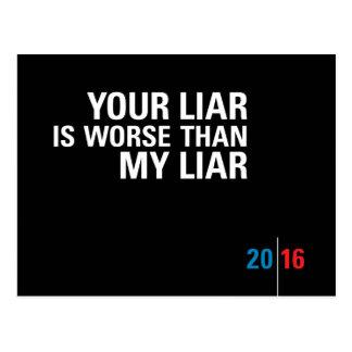 Liar Liar / Political Postcards