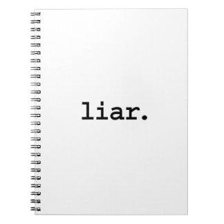 liar. spiral note book