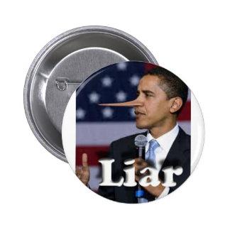 liar pinback button