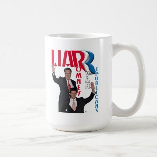 Liar - Romney & Ryan Classic White Coffee Mug