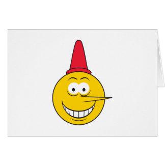 Liar Smiley Face Card