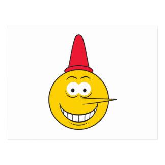 Liar Smiley Face Postcard