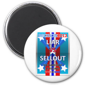 Liar vs Sellout 2 Inch Round Magnet