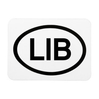 LIB Liberal Oval on Rectangular Magnet